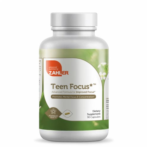 Zahler Teen Focus Advanced Formula for Improved Focus Dietary Supplement Capsules Perspective: front