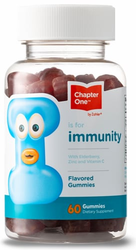 Chapter One I is For Immunity Kid's Gummies Perspective: front