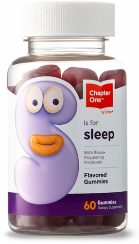 Chapter One S is for Sleep Flavored Gummies Perspective: front
