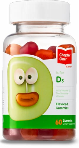 Chapter One D is for D3 Flavored Gummies Perspective: front