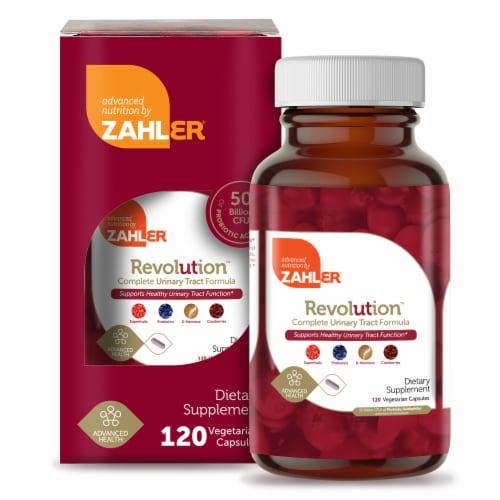 Zahler Revolution Complete Urinary Tract Formula Dietary Supplement Capsules Perspective: front