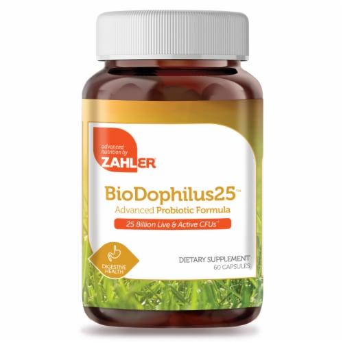 Zahler BioDophilus25™ Advanced Probiotic Formula Capsules Perspective: front