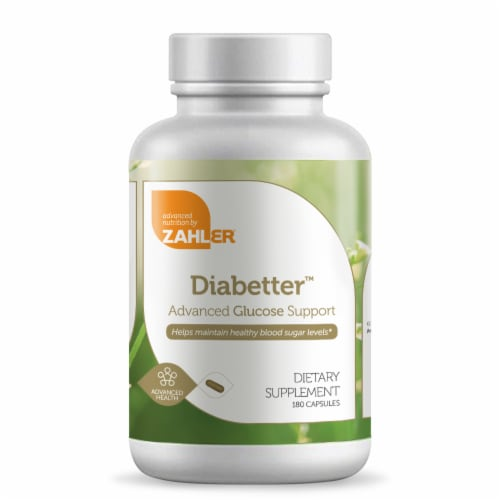 Zahler Diabetter Advanced Glucose Support Dietary Supplement Capsules Perspective: front