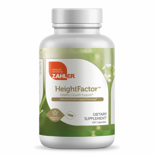 Zahler HeightFactor Healthy Growth Support Dietary Supplement Capsules Perspective: front