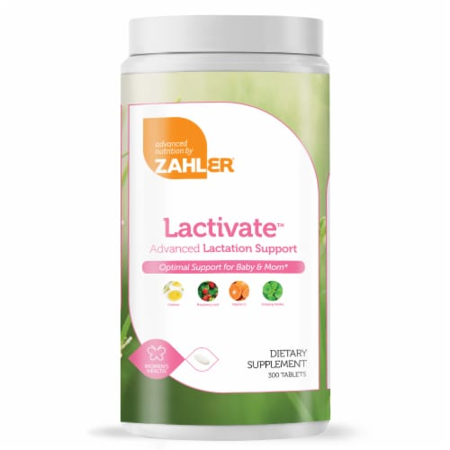 Zahler Lactivate Advanced Lactation Support Dietary Supplement Tablets Perspective: front