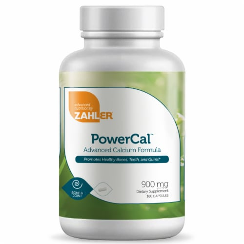 Zahler PowerCal Advanced Calcium Formula Dietary Supplement Capsules 900mg Perspective: front