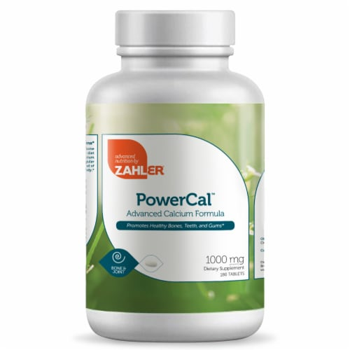 Zahler PowerCal Advanced Calcium Formula Dietary Supplement Tablets 1000mg Perspective: front