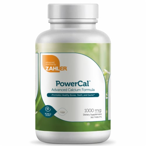Zahler PowerCal™ Advanced Calcium Formula 1000 mg Tablets Perspective: front