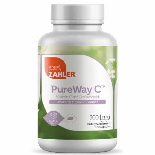 Zahler  PureWay C™ Vitamin C and Bioflavonoids Dietary Supplement Perspective: front