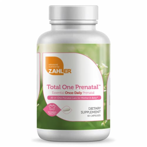 Zahler Total One Prenatal™ Essentials One-Daily Capsules Perspective: front