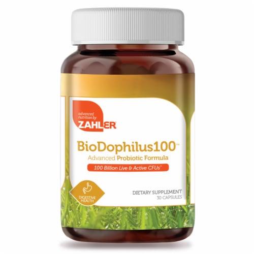 Zahler BioDophilus100™ Probiotic Formula Capsules Perspective: front