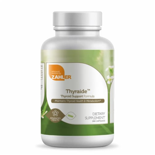 Zahler Thyraide™ Thyroid Support Formula Capsules Perspective: front