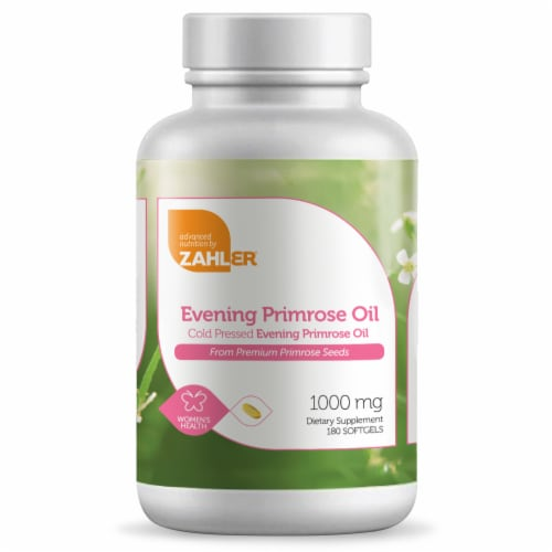 Zahler Evening Primrose Oil Dietary Supplement Softgels 1000mg Perspective: front