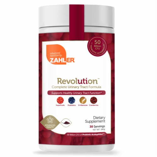 Zahler Revolution Complete Urinary Tract Formula Dietary Supplement Powder Perspective: front