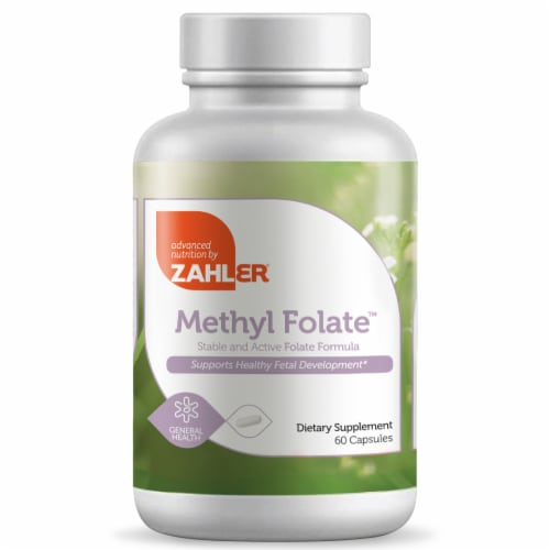 Zahler Methyl Folate™ Capsules Perspective: front