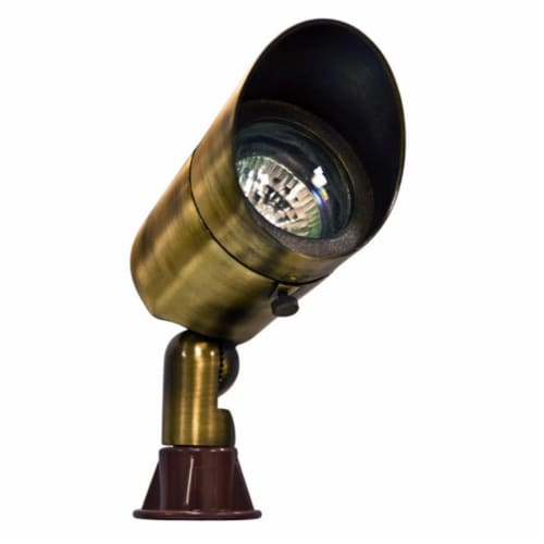 Dabmar Lighting LV131-ABS Solid Brass Directional Spot Light with Hood, Antique Brass Perspective: front