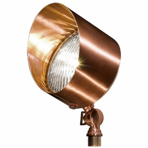 Dabmar Lighting LV30-CP Solid Brass Directional Flood Light with Hood, Copper Perspective: front