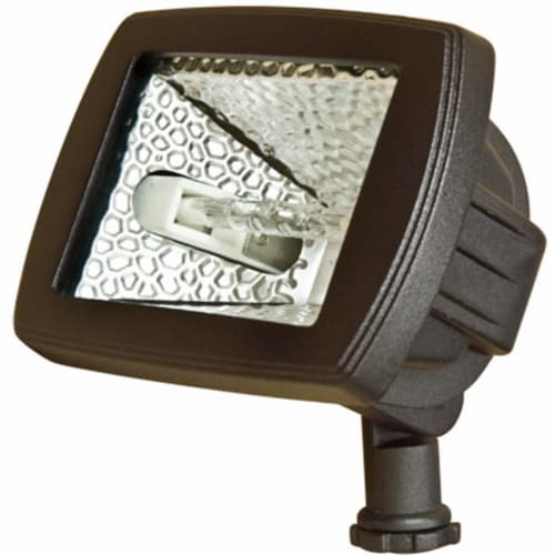 Dabmar Lighting D105-BZ Cast Aluminum Area Flood Light, Bronze Perspective: front