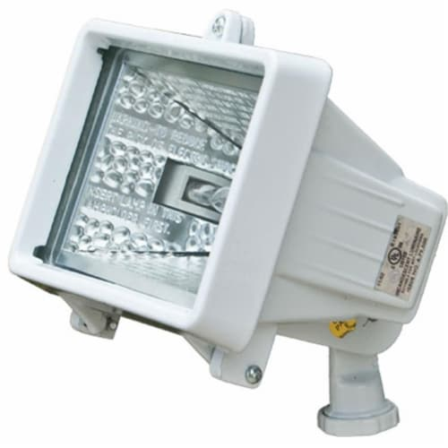 Dabmar Lighting D105-W Cast Aluminum Area Flood Light, White Perspective: front