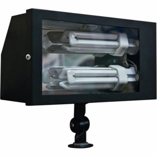 Dabmar Lighting DF5675-B Solid Brass Area Flood Light, Black Perspective: front