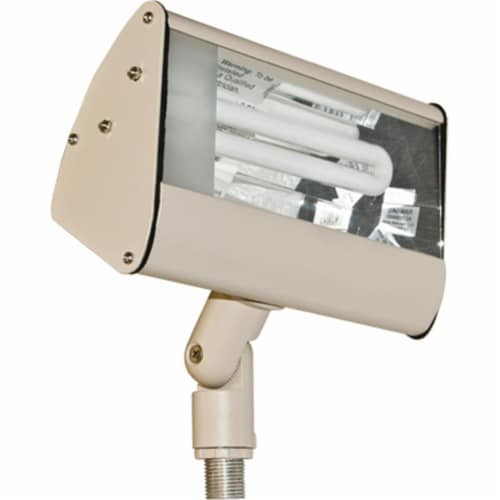 Dabmar Lighting DF5970-SAND Cast Aluminum Area Flood Light, Sand Perspective: front