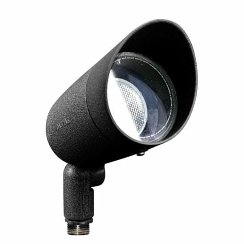 Dabmar Lighting DPR20-HOOD-B Cast Aluminum Directional Spot Light with Hood, Black Perspective: front