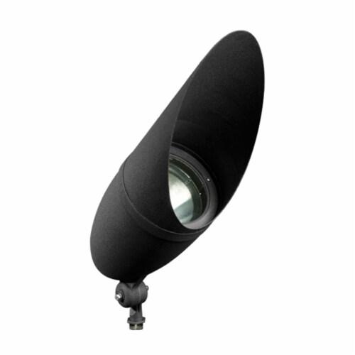 Dabmar Lighting DPR41-HOOD-B Cast Aluminum Directional Spot Light with Hood, Black Perspective: front