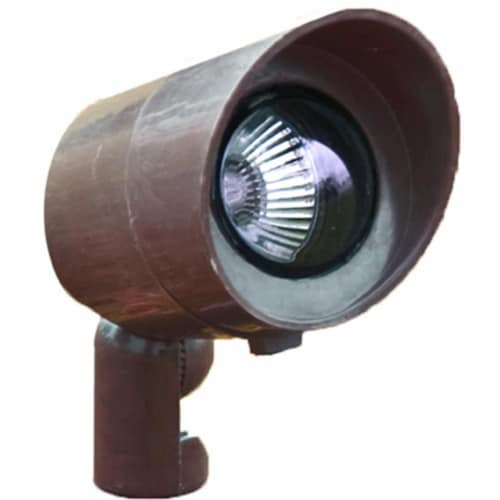Dabmar Lighting FG132-BZ Fiberglass Directional Spot Light with Hood, Bronze Perspective: front