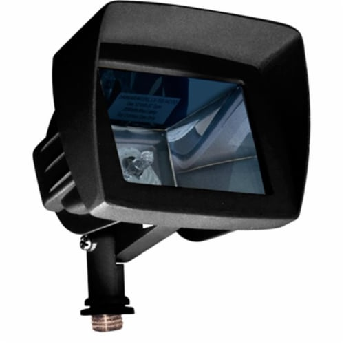 Dabmar Lighting LV105-HOOD-B Cast Aluminum Directional Area Flood Light with Hood, Black Perspective: front