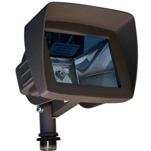 Dabmar Lighting LV105-HOOD-BZ Cast Aluminum Directional Area Flood Light with Hood, Bronze Perspective: front