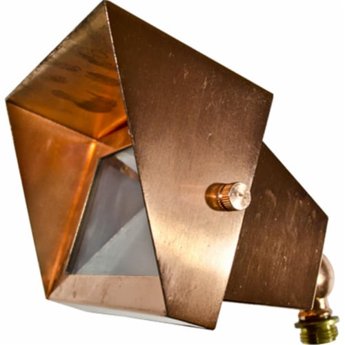 Dabmar Lighting LV117-CP Solid Brass Area Flood Light with Hood, Copper Perspective: front