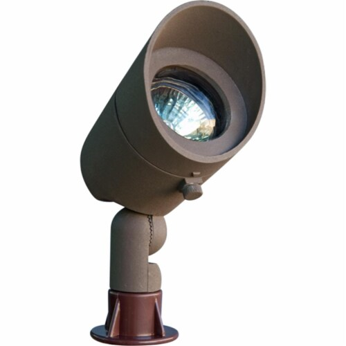Dabmar Lighting LV130-BZ Cast Aluminum Directional Spot Light with Hood, Bronze Perspective: front