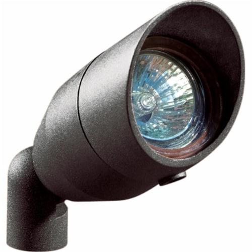 Dabmar Lighting LV190-B Cast Aluminum Directional Spot Light with Hood, Black Perspective: front
