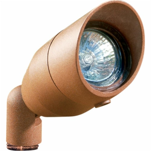 Dabmar Lighting LV190-DS Cast Aluminum Directional Spot Light with Hood, Dark Sand Perspective: front