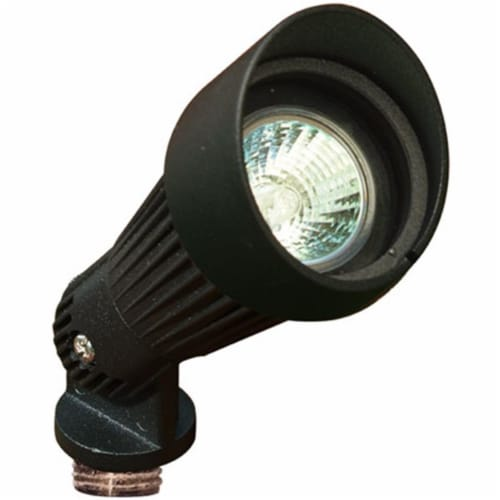 Dabmar Lighting LV203-B Cast Aluminum Directional Spot Light with Hood, Black Perspective: front