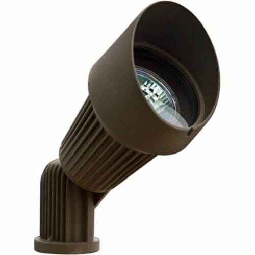 Dabmar Lighting LV203-BZ Cast Aluminum Directional Spot Light with Hood, Bronze Perspective: front