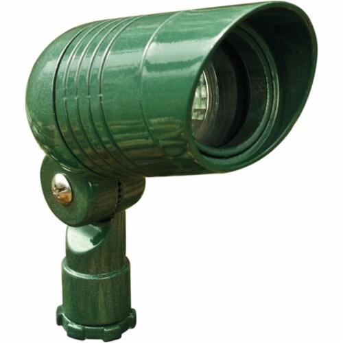 Dabmar Lighting LV222-G Cast Aluminum Directional Spot Light with Hood, Green Perspective: front
