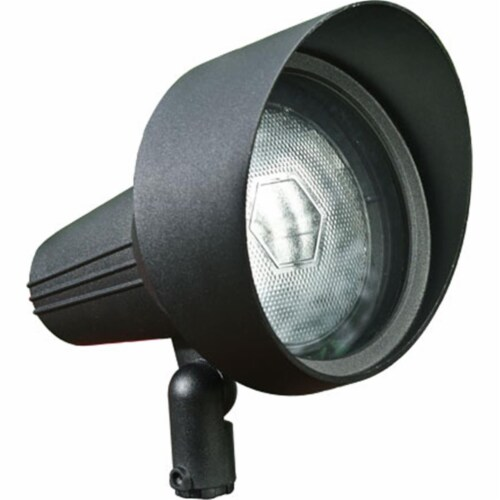 Dabmar Lighting DPR40-HOOD-B Cast Aluminum Directional Spot Light with Hood, Black Perspective: front
