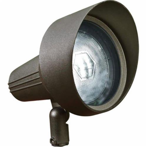 Dabmar Lighting DPR40-HOOD-BZ Cast Aluminum Directional Spot Light with Hood, Bronze Perspective: front