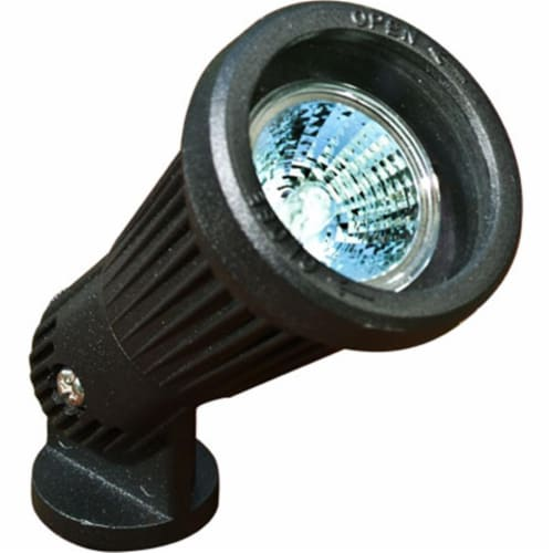 Dabmar Lighting LV200-B Cast Aluminum Directional Spot Light, Black Perspective: front