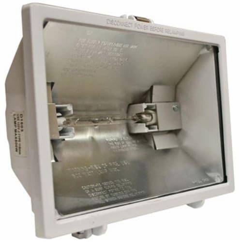 Dabmar Lighting QH500-W Cast Aluminum Area Flood Light, White Perspective: front