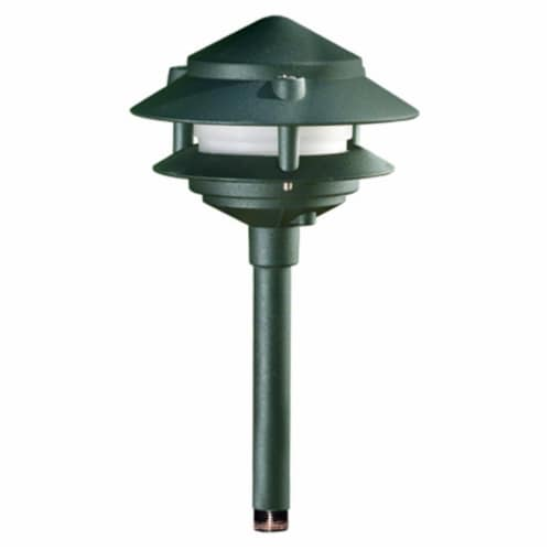 Dabmar Lighting LV102S-G Cast Aluminum Two Tier Pagoda Light, Green Perspective: front