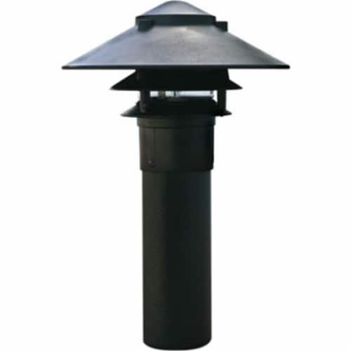 Dabmar Lighting LV104-B Cast Aluminum Three Tier Pagoda Light with 3 In. Base, Black Perspective: front