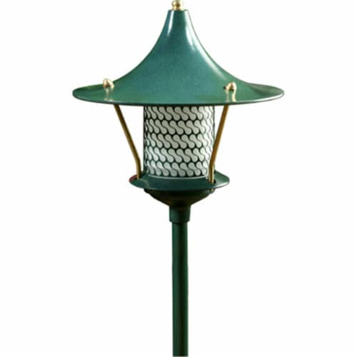 Dabmar Lighting LV106A-G Cast Aluminum Flair Top Pagoda Light with 0.50 In. Base, Green Perspective: front