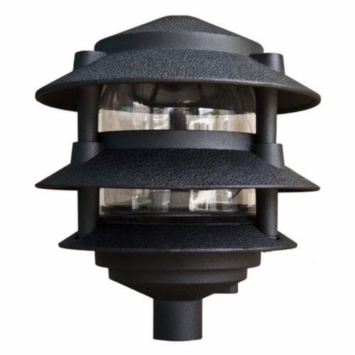 Dabmar Lighting D5000-B Cast Aluminum Three Tier Pagoda Light, Black Perspective: front