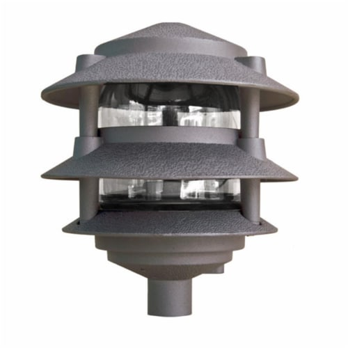 Dabmar Lighting D5000-BZ Cast Aluminum Three Tier Pagoda Light, Bronze Perspective: front