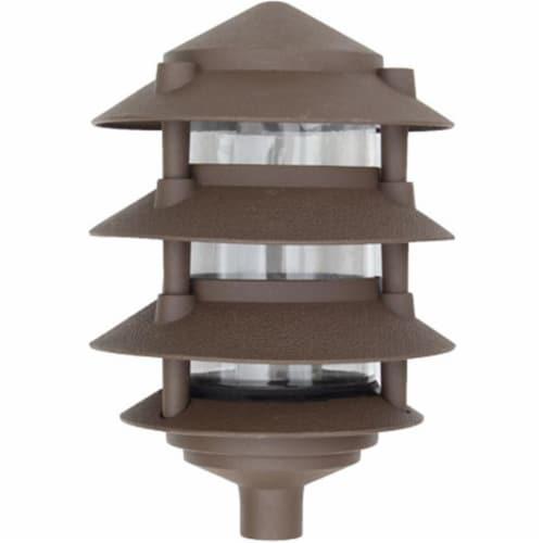 Dabmar Lighting D5100-BZ Cast Aluminum Four Tier Pagoda Light, Bronze Perspective: front
