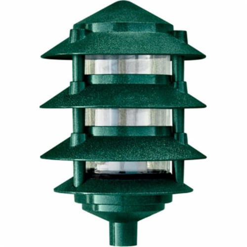 Dabmar Lighting D5200-G Cast Aluminum Four Tier Pagoda Light, Green Perspective: front