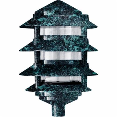 Dabmar Lighting D5200-VG Cast Aluminum Four Tier Pagoda Light, Verde Green Perspective: front
