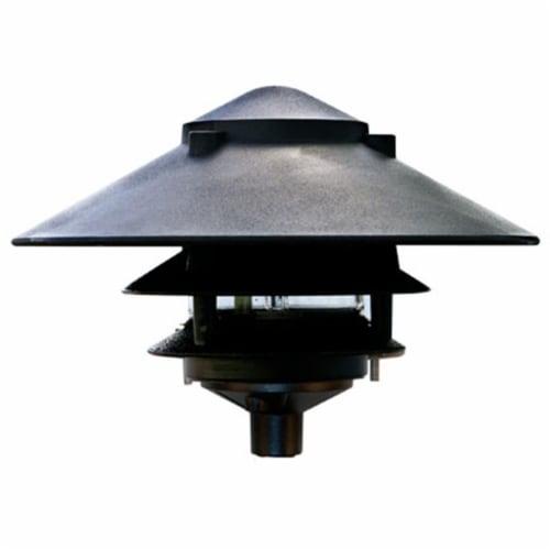 Dabmar Lighting D5300-B Cast Aluminum Three Tier Pagoda Light, Black Perspective: front